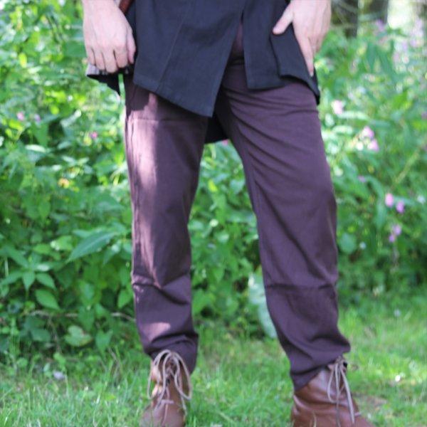 Pantalon en coton Alin, marron foncé