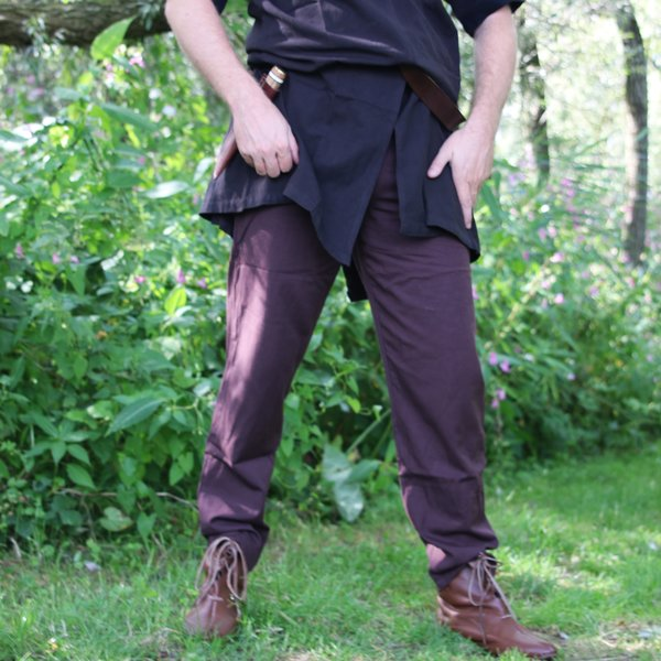 Leonardo Carbone Bomuld bukser Alin, mørkebrun