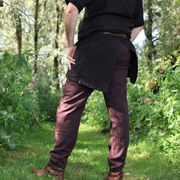 Spodnie bawełna Alin ciemnobrązowy