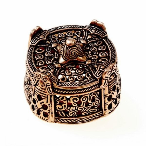 Viking drum brooch large