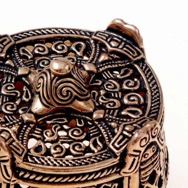Viking trumma brosch stor