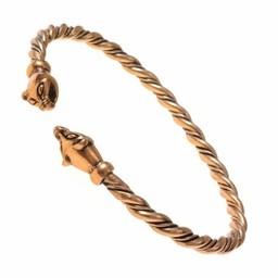 Viking bransoletka z głowicami łasica