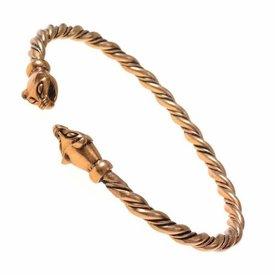 Viking armbånd med væsel hoveder