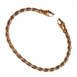 Viking bracelet with weasel heads