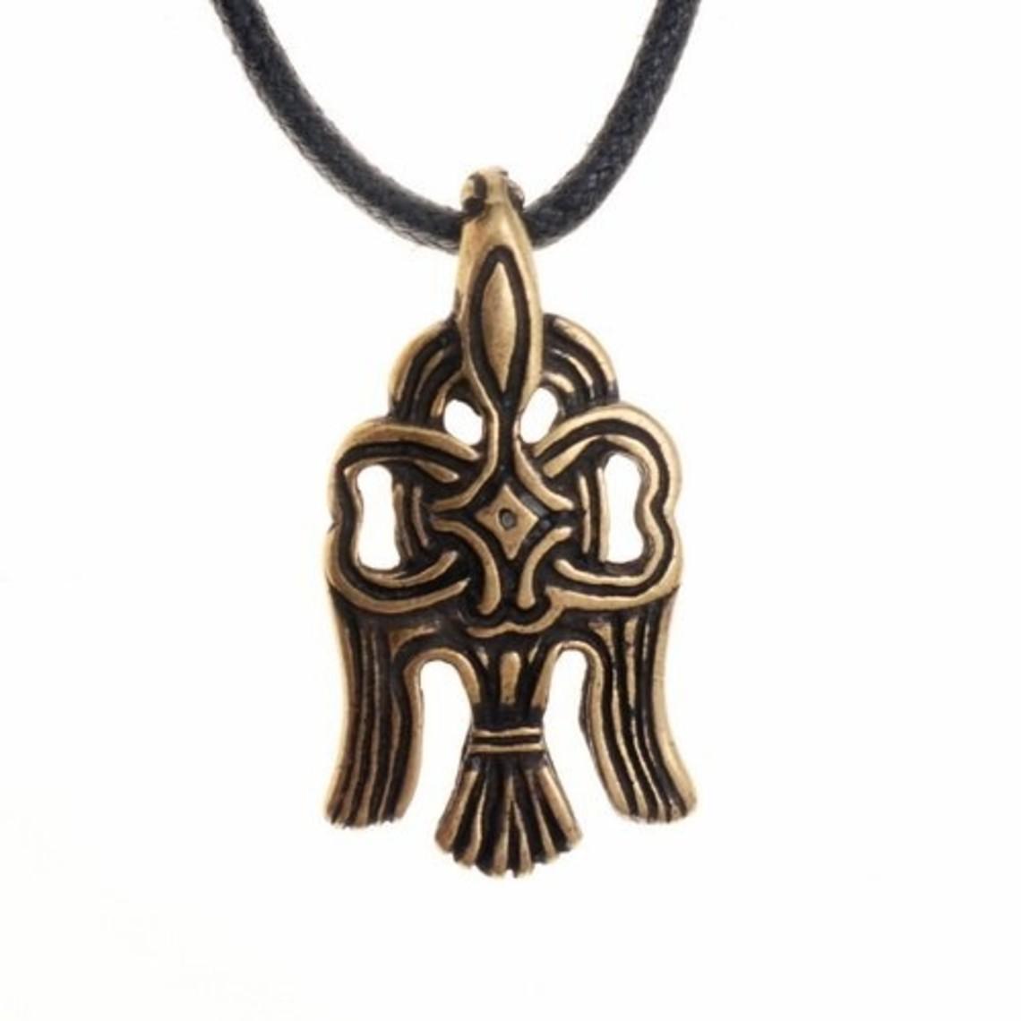 10 ° secolo Rusvik corvo amuleto