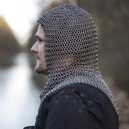 Chainmail coif Alaric, 9 mm