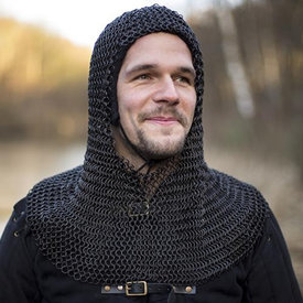 Epic Armoury Chainmail coif Alaric, bronsat 9 mm