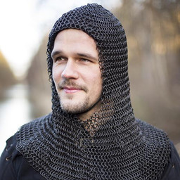 Chainmail coif Alaric, bronzed 9 mm