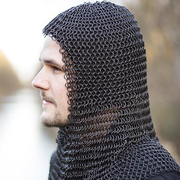 Epic Armoury Chainmail coif Alaric, bronzed 9 mm