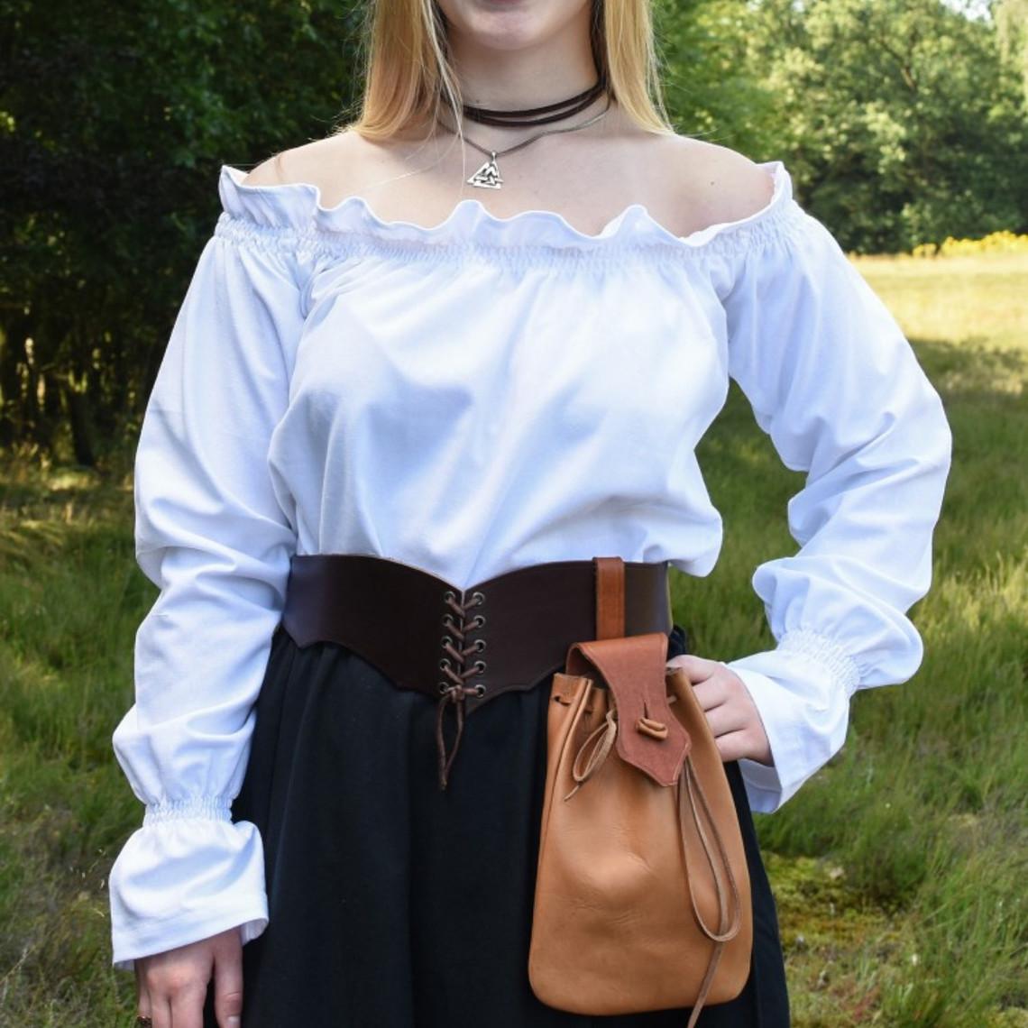 Camicetta rinascimentale Elisabeth, bianca