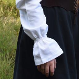 Renaissanceblouse Elizabeth, wit