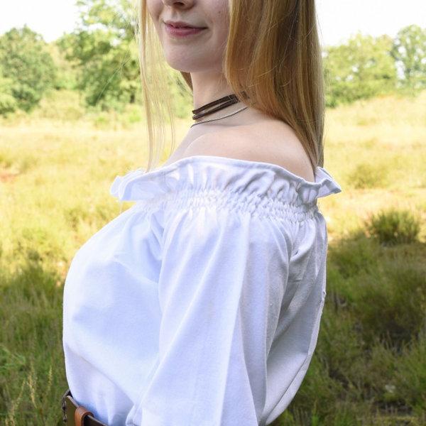 Renässansblus Elisabeth, vit