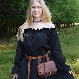 Renæssancebluse Elisabeth, sort