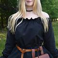 Blusa renacentista Elisabeth, negra