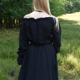 Renaissanceblouse Elizabeth, zwart