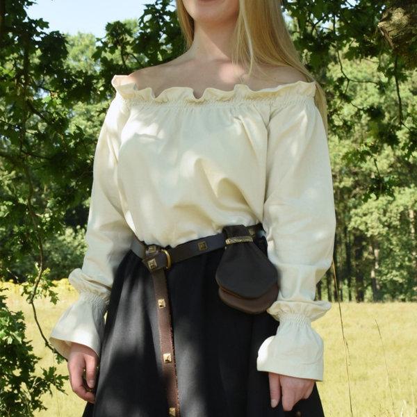 Renæssance bluse Elisabeth, naturlig
