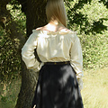 Blusa renacentista Elisabeth, natural