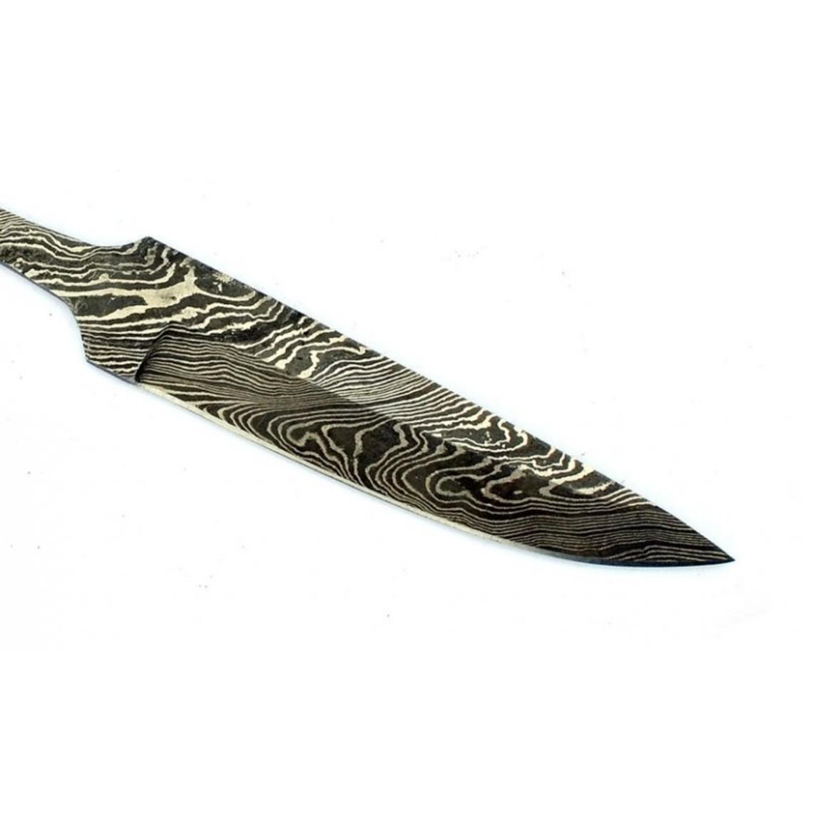 Viking knife blade damascus steel, 20 cm