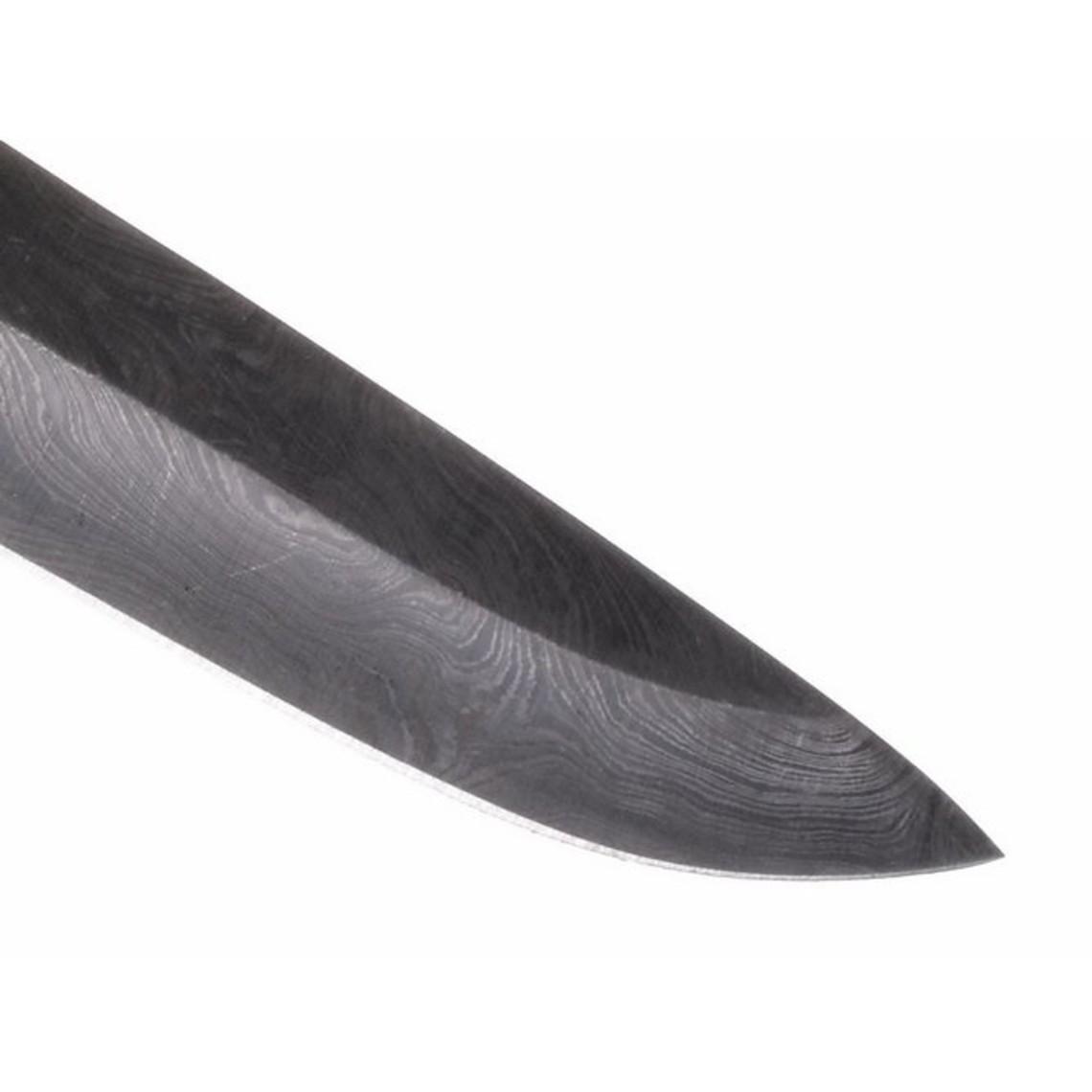 Cuchilla acero damasco, 22 cm.