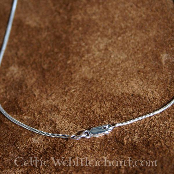 Zilveren ketting, 1,2 mm, 45 cm