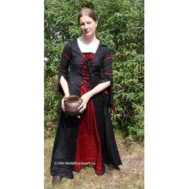 Jurk Eleanora rood-zwart XXL, speciale aanbieding!