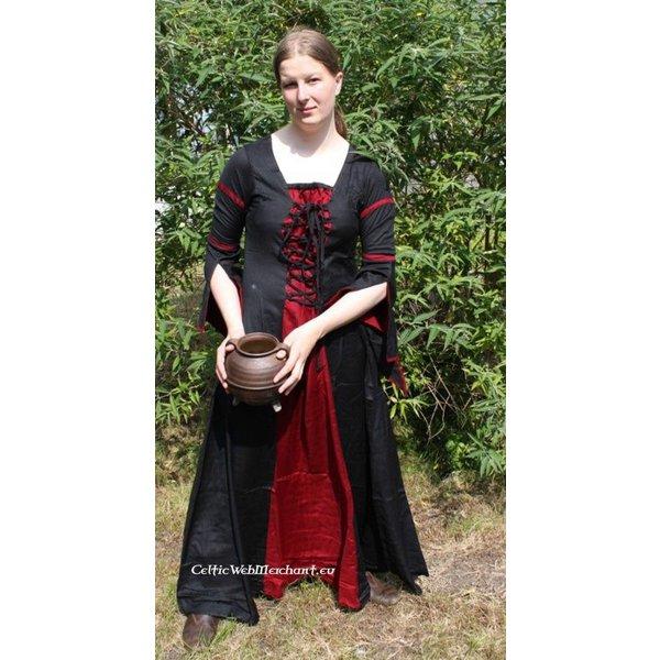 Dress Eleanora red-black XXL, special offer!