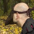 Epic Armoury Leren masker pestdokter, bruin