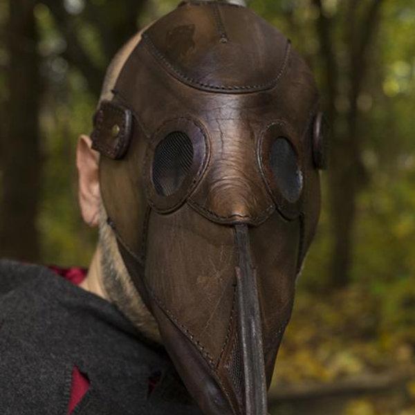 Epic Armoury Masque en cuir, médecin de la peste, marron