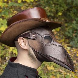Läder mask pesten läkare, brun