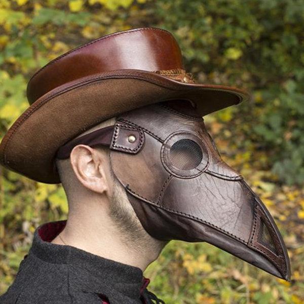 Epic Armoury Skórzana maska plaga lekarz, brązowy