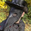Epic Armoury Leren masker pestdokter, zwart