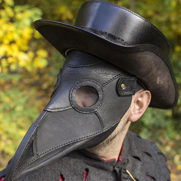 Epic Armoury Skórzana maska plaga lekarz, czarny