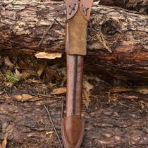 Epic Armoury LARP luxurious dagger scabbard, brown