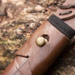 LARP luksusowy sztylet pochwa, brązowy