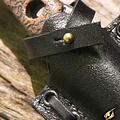 Epic Armoury LARP lanzar / cuchillo de empuje con soporte, negro