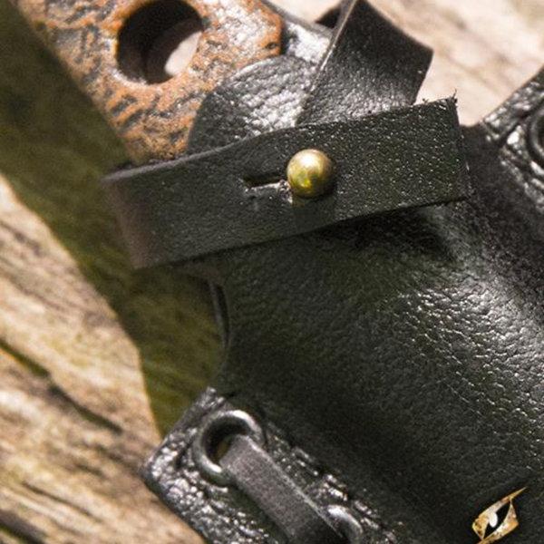 Epic Armoury LARP kasta / tryck kniv med hållare, svart