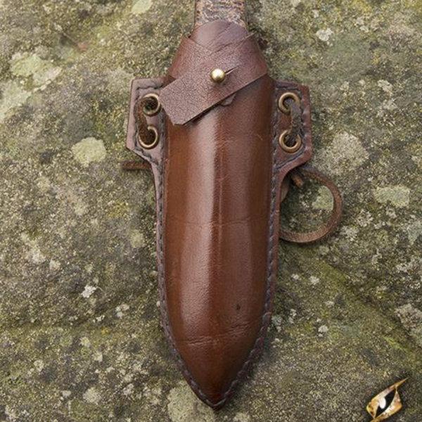 Epic Armoury Larp kaste / stak kniv med holder, brun