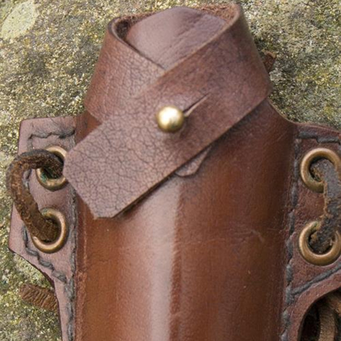 Epic Armoury LARP lanzar / cuchillo de empuje con soporte, marrón