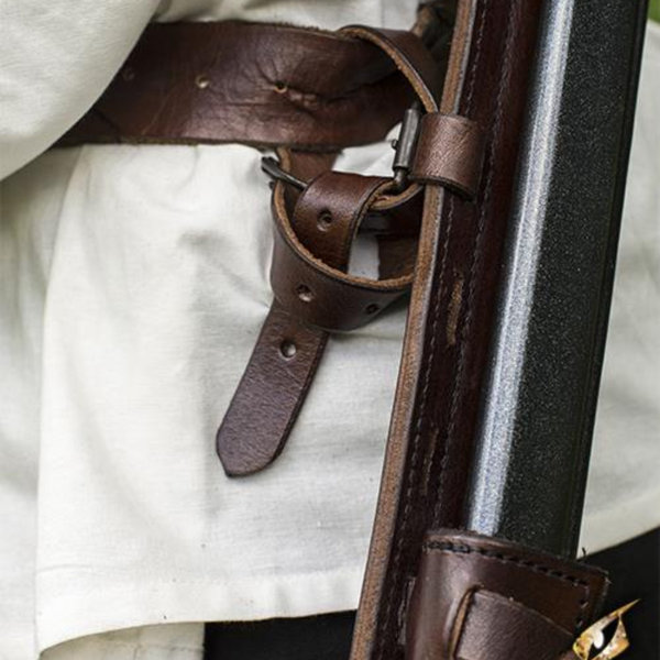 Epic Armoury LARP back scabbard Sky Hook, brown