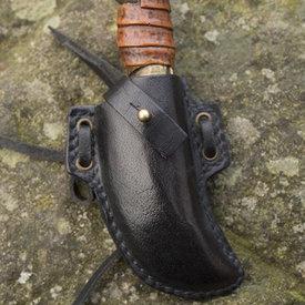 Epic Armoury LARP skinner knife with holder, black