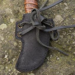 LARP skinner knife with holder, black