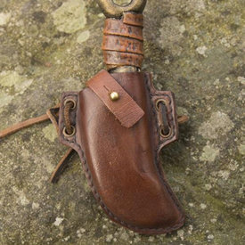 Epic Armoury LARP skinner knife with holder, brown