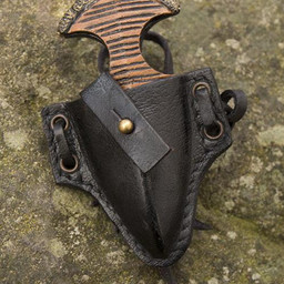 LARP Handgelenk Dolch mit Halter, schwarz