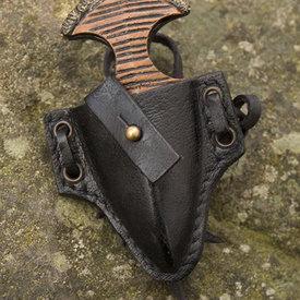 Epic Armoury LARP daga de muñeca con soporte, negro