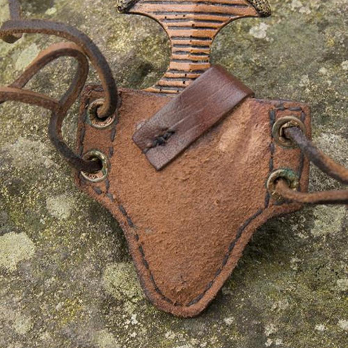 Epic Armoury LARP handled dolk med hållare, brun