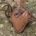 Epic Armoury LARP daga muñeca con soporte, marrón