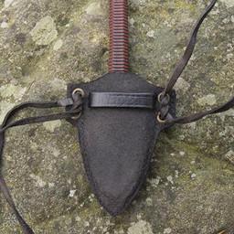 cuchillo kunai LARP con soporte, negro