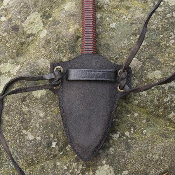 Epic Armoury LARP kunai kniv med hållare, svart