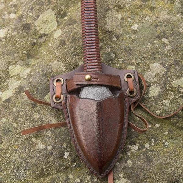 Epic Armoury LARP kunai knife with holder, brown