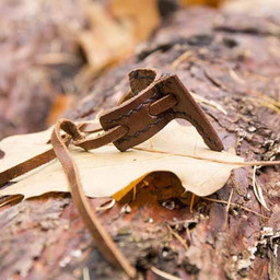 Scabbard hook for LARP sword, brown